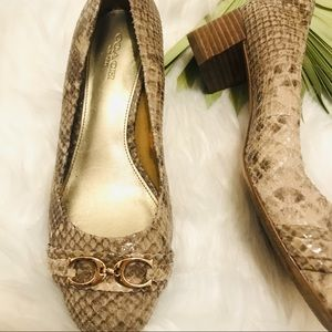 Not for sale COPY - Coach snake skin shoes
